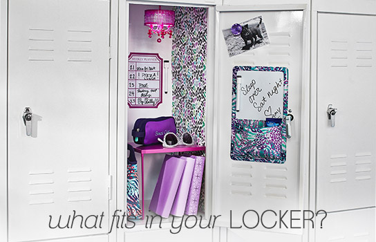 what fits in your locker?