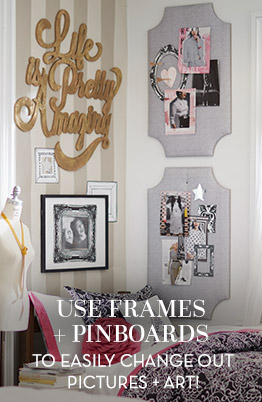 Use frames + pinboards!