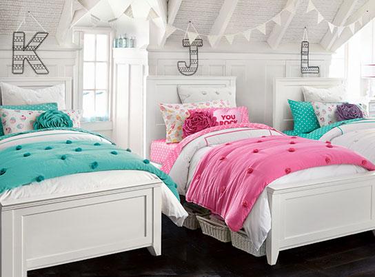 hampton crinkle puff bedroom pbteen. Black Bedroom Furniture Sets. Home Design Ideas
