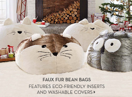 Faux Fur Bean Bags