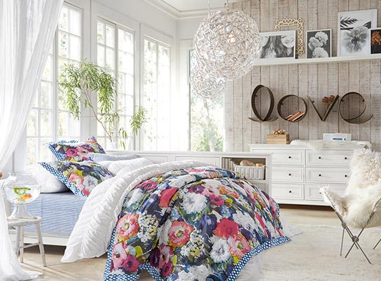Chelsea secret garden bedroom pbteen - Bed room for girls ...
