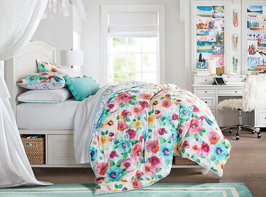 Decorating Ideas # Rainbow Blossoms Chelsea Bedroom  PBteen