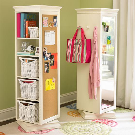 swivel storage mirror and bookcase 1