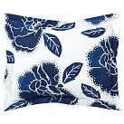 Floral Dot Duvet Cover + Sham, Twin, Royal Navy