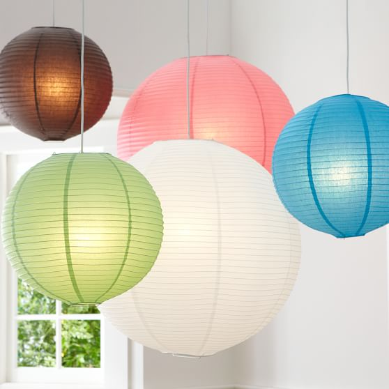 round paper lanterns pbteen paper lantern lights for bedroom