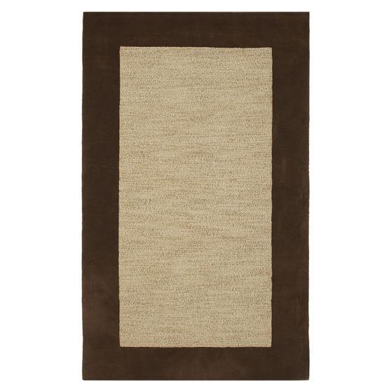 Classic Wool Border Rug, 3X5', Brown