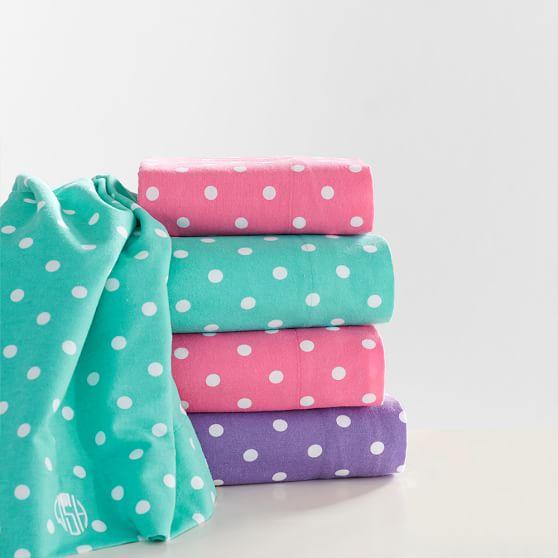 Dottie Flannel Sheet Set, Twin/Twin XL, Pink Magenta