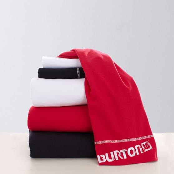 Burton Solid Favorite Tee Sheet Set, Full, White
