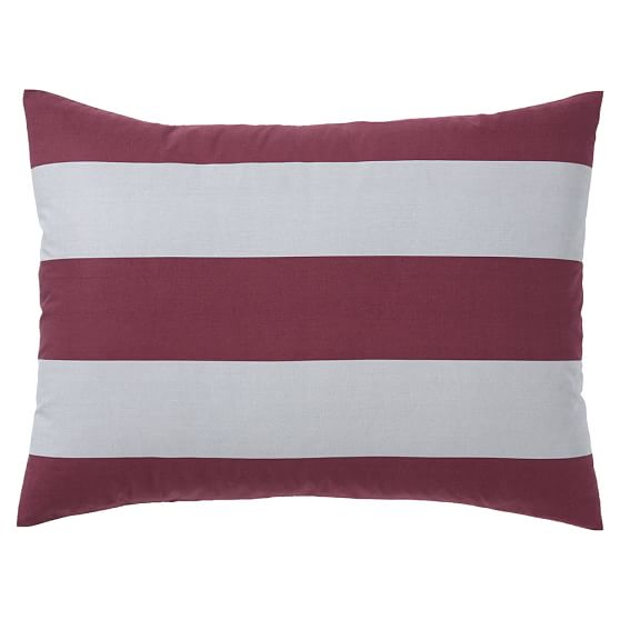 Rugby Stripe Duvet Cover Sham Vineyard Vine Grey Pbteen