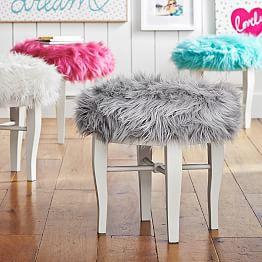 Vanity stools vanity chairs pbteen for Vanity chair cheap