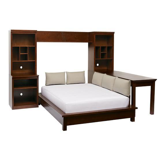 Stuff-Your-Stuff Platform Bed System (Bed, Towers, Shelves + Desk)