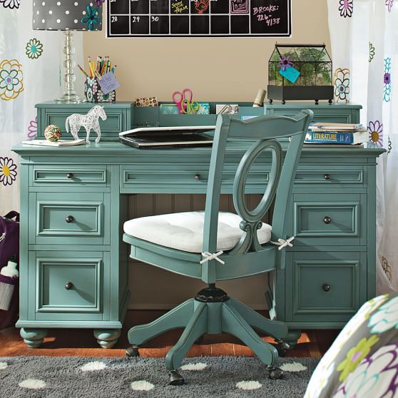 Chelsea desk hutch pbteen for Paint office chair