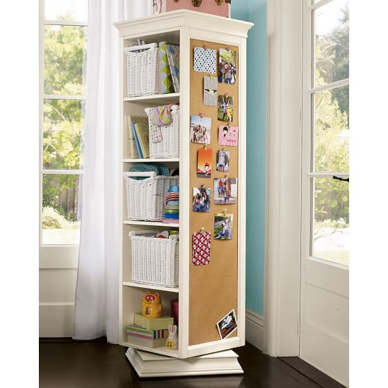 swivel storage mirror and bookcase 2