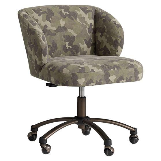 Northfield Camo Wingback Desk Chair Pbteen Wingback Desk Chair