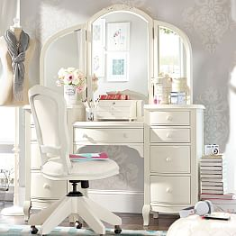 Vanity Tables Amp Makeup Vanities Pbteen