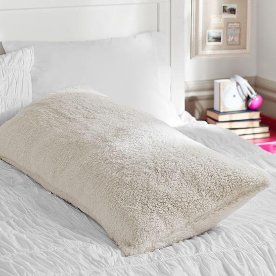 Shabby Chic Body Pillow Pillowcase : Faux Fur Sherpa Body Pillow Cover PBteen