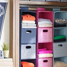 Hanging closet organizer j