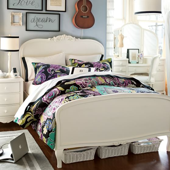 Boho floral organic duvet cover sham pbteen for Chambre a coucher 2012