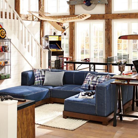 Cushy Lounge Super Sectional Set + Base