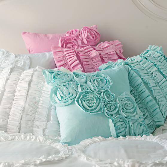Ruffle & Rose Pillow Covers PBteen