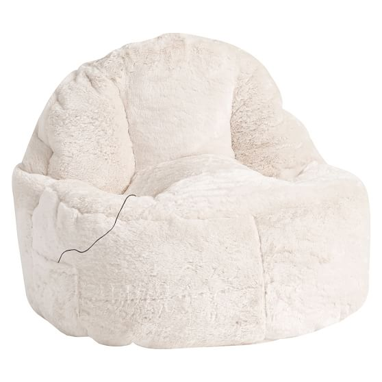 Ivory luxe leanback lounger speaker media chair pbteen - Leanback lounger chairs ...
