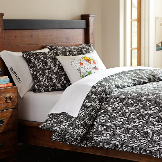Burton Fixed Logo Duvet, Twin, Black