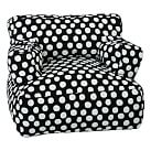Black Painted Dot Eco Lounger, Single