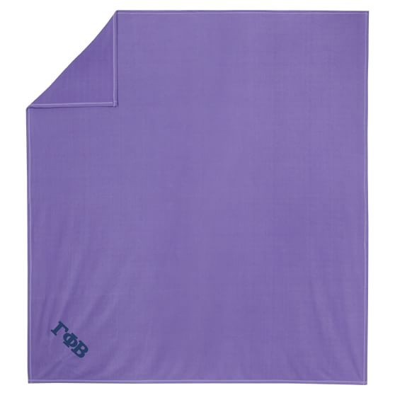 Greek SuperPlush Blanket, Full/Queen, Purple