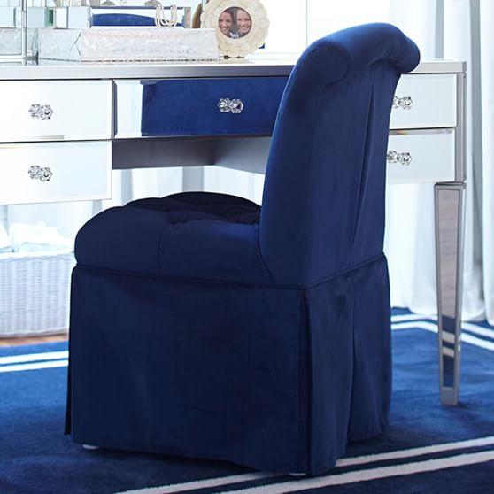 Sophie Vanity Chair, Navy
