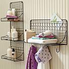Wire Bath 3-Level Shelf, Black