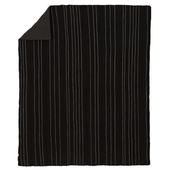 Favorite Fleece Solid Quilt, Full/Queen, Black