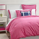 Dottie Duvet Cover, Twin, Bright Magenta