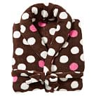 Snowball Dot Recycled Robe, Coffee