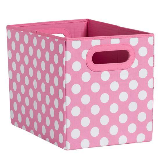 Mix + Match Storage Medium Bin, Single, Pink Big Dot
