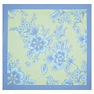Garden Party Organic Duvet Cover, Twin, Periwinkle