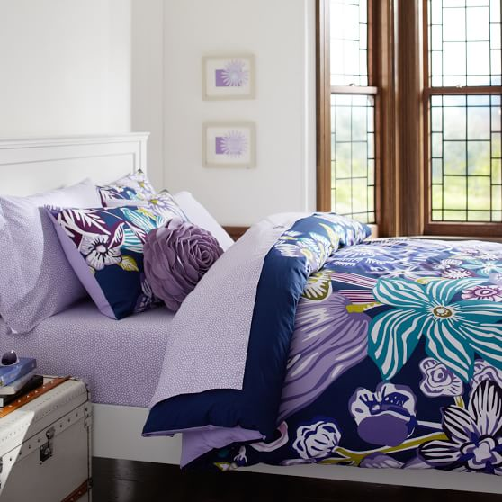 Jolie Duvet Cover, Twin, Purple Multi