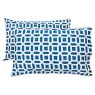 Peyton Pillowcases, Set of 2, Navy