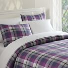 Prescott Plaid Duvet Cover, Twin, Navy