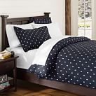 Creature Comfort Duvet Cover, Twin, Skull Dark Navy