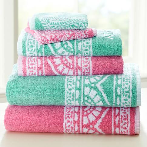 Serena Washcloth, Pink Multi