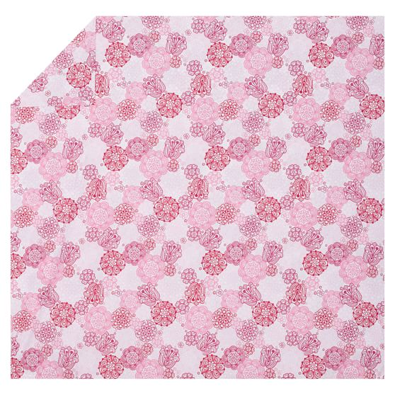 Flower Burst Duvet, Twin, Pink Multi