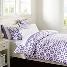 Peyton Floral Duvet, Full/Queen, Purple