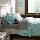 Damask Duvet Color, Full/Queen, Pool