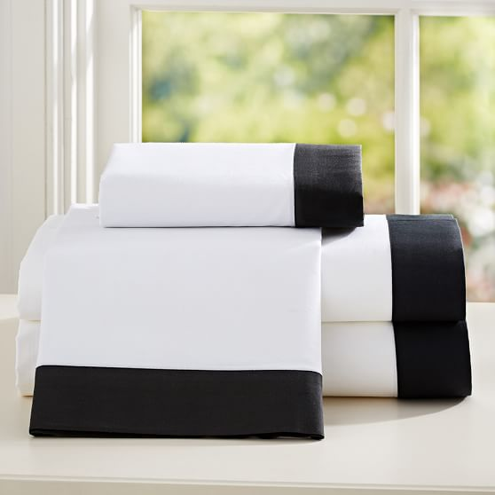 Suite Organic Sheet Set, Twin/Twin XL, Black