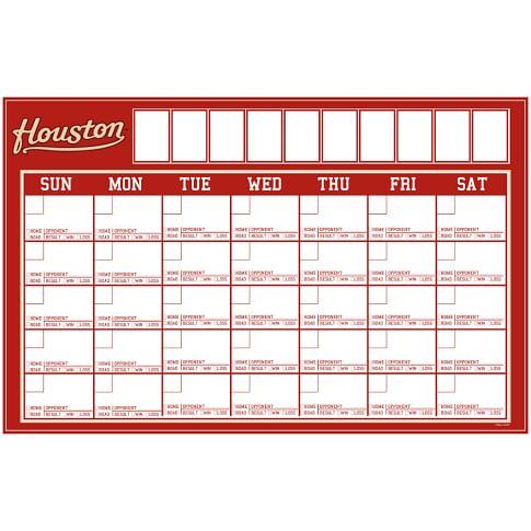MLB Dry-Erase Calendar Decal, Houston Astros