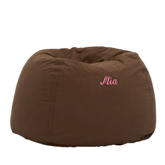 Washed Twill Beanbag Cover, Large, Coffee