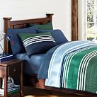 Beckett Stripe Quilt, Full/Queen, Multi Green