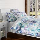 Island Floral Surf Duvet Cover, Twin, Blue Multi