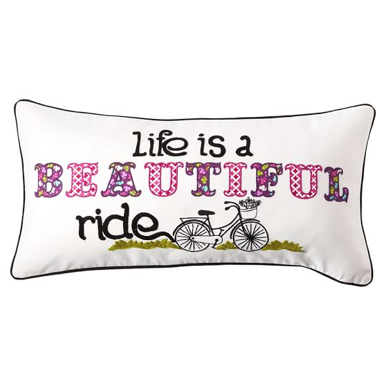 Inspiration Pillow Covers, 12x24, Life is a Beautiful Ride