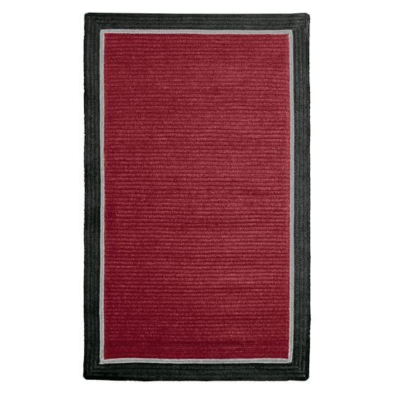 Capel Border Rug, 3x5, Dark Red/Black